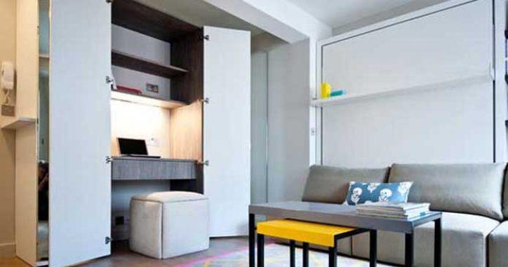 Küçük Evlere, Küçük Çalışma Odası Dekorasyonu