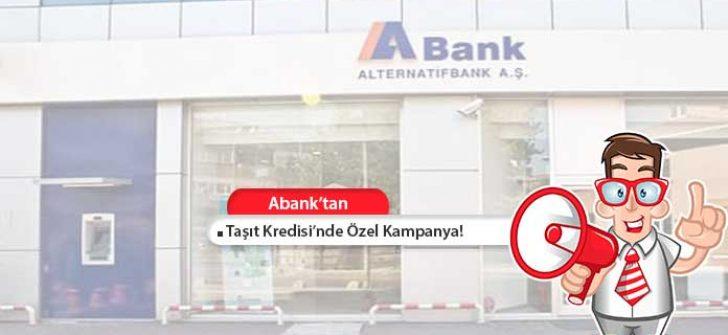 ABank Taşıt Kredisi Başvurusu ve Faiz Oranları