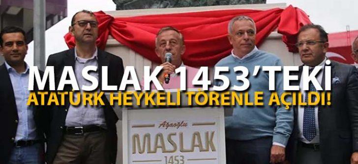 Ağaoğlu Maslak 1453 Projesi'nde Atatürk Heykeli Açılışına Binlerce Kişi Katıldı