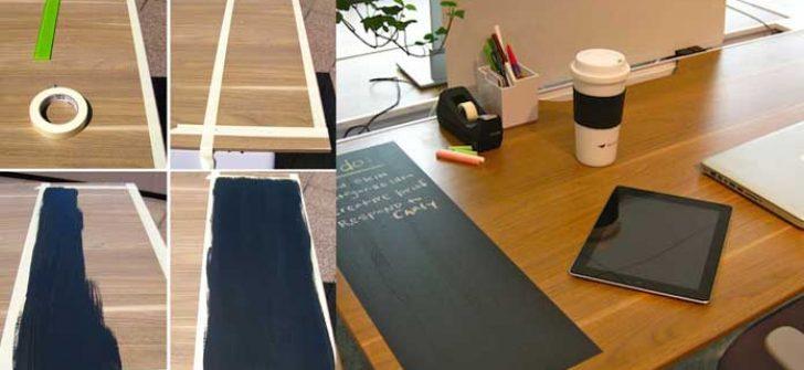 Çalışma Masasında Kara Tahta Dekorasyonu