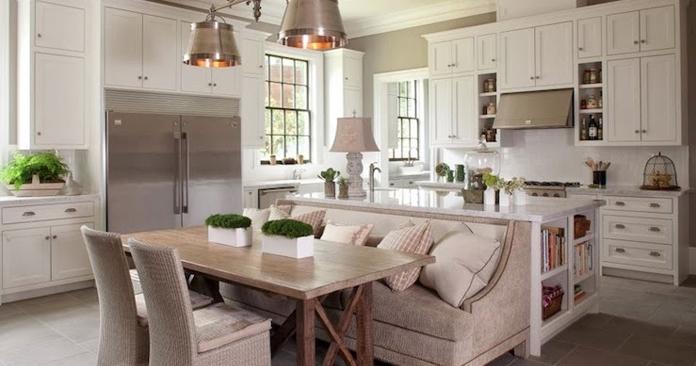 A k mutfak dekorasyonu nas l olmal d r emlak for Acik mutfak salon dekorasyon