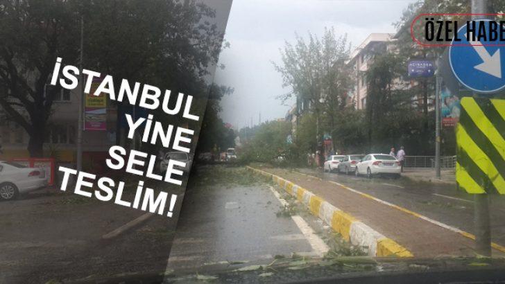 İstanbul Yine Sele Teslim! Çökmeler Sonucu Göçük Altında Kalanlar Var!