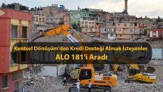 Kentsel Dönüşümden Kredi Desteği Almak İsteyen Vatandaşlar ALO 181'i Aradı