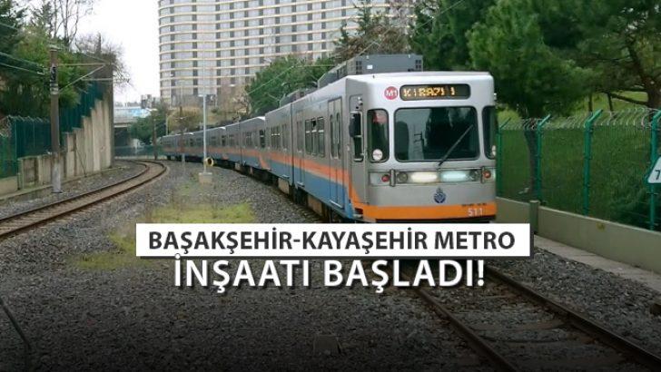 Başakşehir-Kayaşehir Metro Hattı Çalışmalarına Start Verildi