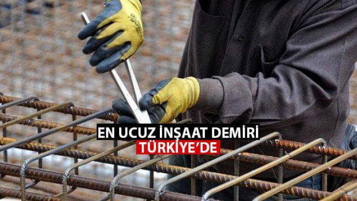 Dünyanın En Ucuz Demir'i Türkiye'de!