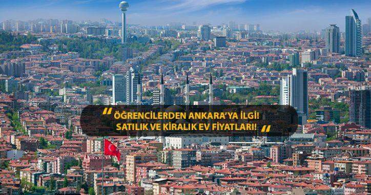Öğrencilerden Ankara'ya İlgi! İlçe İlçe Satılık ve Kiralık Ev Fiyatları!
