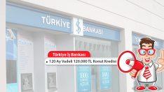 120 Ay Vadeli 120.000 TL Konut Kredisi Türkiye İş'ten!