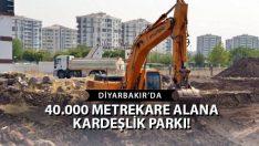 Diyarbakır'a Rekor Büyüklükte 'Kardeşlik Parkı'