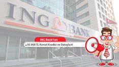 ING Bank'tan Çeşitli Ödeme Planları ile 50.000 TL Ev Kredisi!