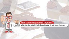 Mülk Kurumsal Gayrimenkul Değerleme Türkiye Geneli Eksper Alımı Yapacak!