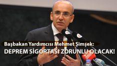 Başbakan Yardımcısı Şimşek: Deprem Sigortası Zorunlu Olacak!