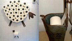 Tuvalet Kağıtları İçin Muhteşem Depolama Fikirleri
