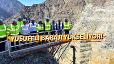 Yusufeli Barajında Çalışmara Tam Gaz Devam!