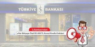 Türkiye İş Bankası'ndan her bütçeye uygun düşük faizli konut kredisi!