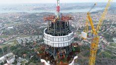 Çamlıca Kulesi'ndeki Son Durum! İstanbul Semalarından Görüntülendi!