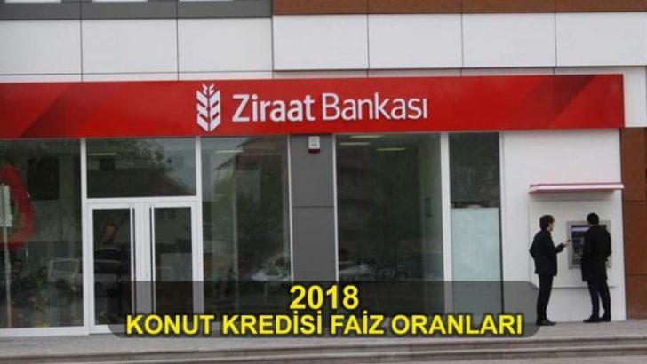 Ziraat Bankası 2018 Konut Kredisi Faiz Oranları