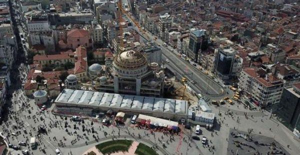 Taksim Camisi'nde Çalışmalar Aralıksız Olarak Sürdürülüyor!